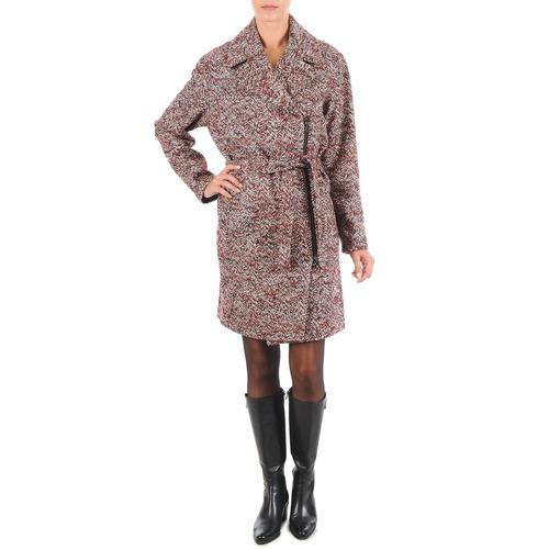 tekstylia Damskie Płaszcze Lola MORANDI IPERYON Bordeaux