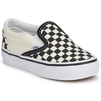 Buty Dziecko Tenisówki Vans CLASSIC SLIP ON KIDS Czarny / Biały