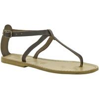 Buty Damskie Sandały Gianluca - L'artigiano Del Cuoio 582 D MORO LGT-CUOIO Brązowy