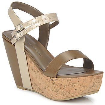 Buty Damskie Sandały Chinese Laundry GO GETTER Taupe / Dk / Beżowy