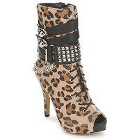 Buty Damskie Botki Abbey Dawn PLATFORM BOOTEE Leopard / Print