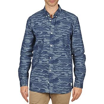 tekstylia Męskie Koszule z długim rękawem Suit ROD Niebieski
