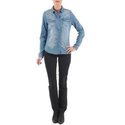 tekstylia Damskie Jeansy straight leg Diesel MYBOY TROUSERS Czarny