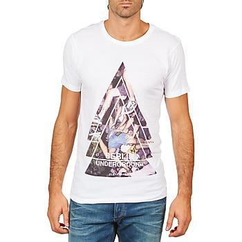 tekstylia Męskie T-shirty z krótkim rękawem Eleven Paris BERLIN M MEN Biały