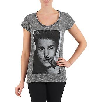tekstylia Damskie T-shirty z krótkim rękawem Eleven Paris BIEBER W WOMEN Czarny