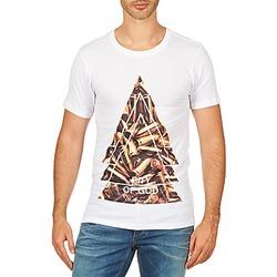 tekstylia Męskie T-shirty z krótkim rękawem Eleven Paris CITYGOD M MEN Biały