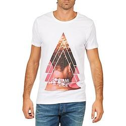 tekstylia Męskie T-shirty z krótkim rękawem Eleven Paris MIAMI M MEN Biały