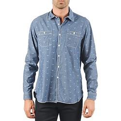 tekstylia Męskie Koszule z długim rękawem Barbour LAWSON Niebieski