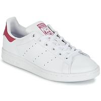 Buty Dziecko Trampki niskie adidas Originals STAN SMITH J Biały / Różowy