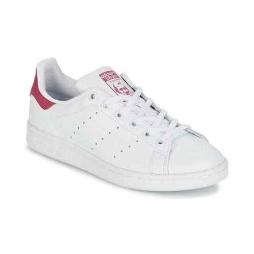 Buty Dziewczynka Trampki niskie adidas Originals STAN SMITH J Biały