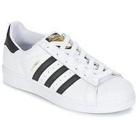 Buty Chłopiec Trampki niskie adidas Originals SUPERSTAR Biały