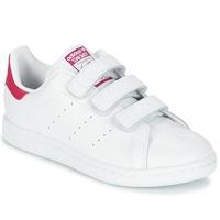 Buty Dziewczynka Trampki niskie adidas Originals STAN SMITH CF C Biały