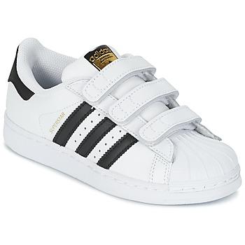 Buty Dziecko Trampki niskie adidas Originals SUPERSTAR FOUNDATIO Biały / Czarny