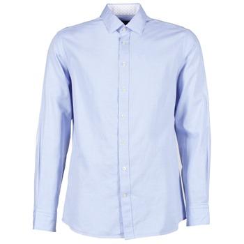 tekstylia Męskie Koszule z długim rękawem Hackett SQUARE TEXT MUTLI Niebieski