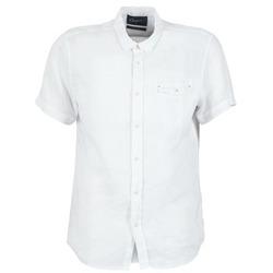tekstylia Męskie Koszule z krótkim rękawem Chevignon C-LINEN Biały