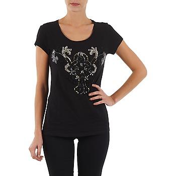 tekstylia Damskie T-shirty z krótkim rękawem S.Oliver T-SHIRT MANCHES COUR Czarny