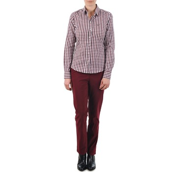 tekstylia Damskie Chinos Gant C. COIN POCKET CHINO Bordeaux