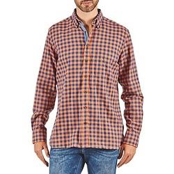tekstylia Męskie Koszule z długim rękawem Hackett SOFT BRIGHT CHECK Pomarańczowy / Niebieski