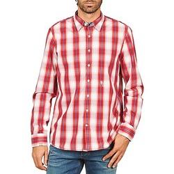tekstylia Męskie Koszule z długim rękawem Gaastra ECHO SOUNDING Czerwony
