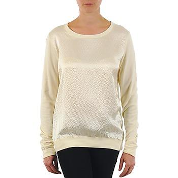 tekstylia Damskie T-shirty z długim rękawem Majestic 237 Ecru