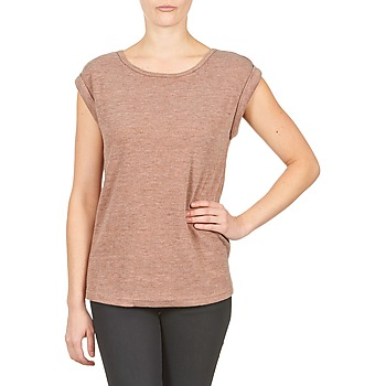 tekstylia Damskie T-shirty z krótkim rękawem Color Block 3203417 Vieux / Różowy / Chiné / Szary