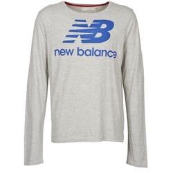 tekstylia Męskie T-shirty z długim rękawem New Balance NBSS1403 LONG SLEEVE TEE Szary
