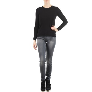 tekstylia Damskie Jeansy slim fit 7 for all Mankind THE SKINNY DARK STARS PAVE Szary