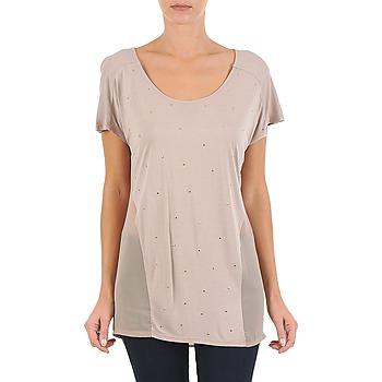 tekstylia Damskie T-shirty z krótkim rękawem La City MC BEIGE Beżowy