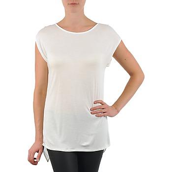 tekstylia Damskie T-shirty z krótkim rękawem La City TS CROIS D6 Biały