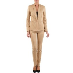 tekstylia Damskie Spodnie z pięcioma kieszeniami La City PBASIC Beżowy