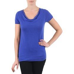 tekstylia Damskie T-shirty z krótkim rękawem La City PULL COL BEB Niebieski