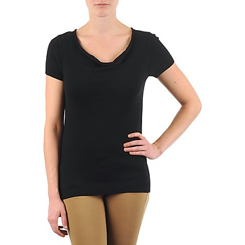 tekstylia Damskie T-shirty z krótkim rękawem La City PULL COL BEB Czarny