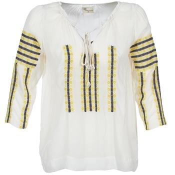 tekstylia Damskie Topy / Bluzki Stella Forest ATU025 Biały / Szary / Żółty