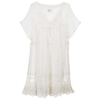 tekstylia Damskie Sukienki krótkie Stella Forest ARO035 ECRU