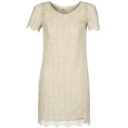 tekstylia Damskie Sukienki krótkie Stella Forest ARO051 ECRU / DORE
