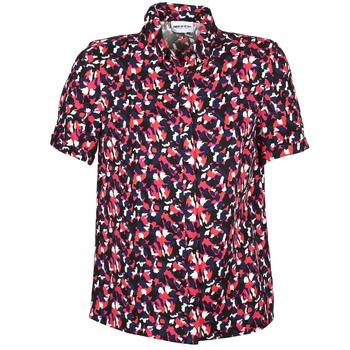 tekstylia Damskie Koszule z krótkim rękawem American Retro NEOSHIRT Czarny / Różowy / Pomarańczowy