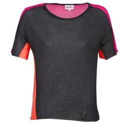 tekstylia Damskie T-shirty z krótkim rękawem American Retro CAROLE Czarny / Różowy