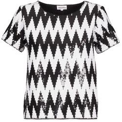 tekstylia Damskie T-shirty z krótkim rękawem American Retro GEGE Czarny / Biały