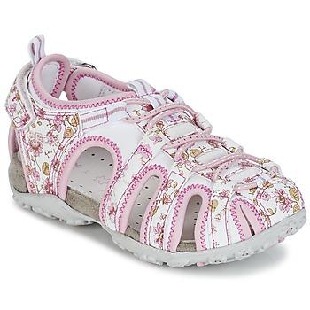 Buty Dziewczynka Sandały sportowe Geox S.ROXANNE C Biały / Różowy