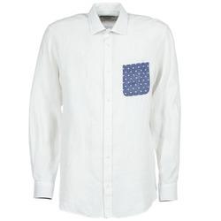 tekstylia Męskie Koszule z długim rękawem Serge Blanco CHACA Biały
