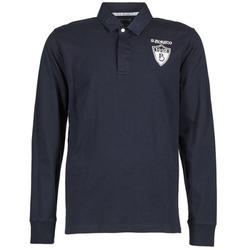 tekstylia Męskie Koszulki polo z długim rękawem Serge Blanco RUGBY LEAGUE Marine