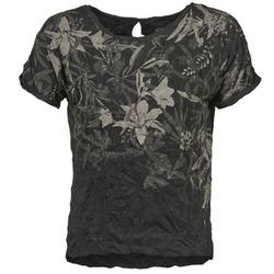 tekstylia Damskie T-shirty z krótkim rękawem Oxbow NIANA Czarny