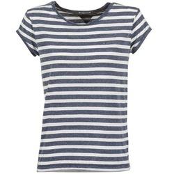tekstylia Damskie T-shirty z krótkim rękawem Tommy Jeans AMELIE Marine / Biały