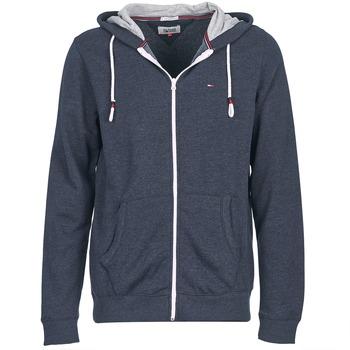 tekstylia Męskie Bluzy Tommy Jeans ORIGINAL ZIPTHRU Marine