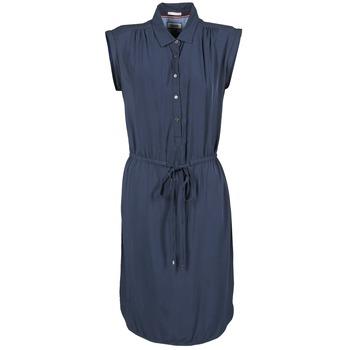 tekstylia Damskie Sukienki krótkie Tommy Jeans BASIC SHIRT DRESS Marine