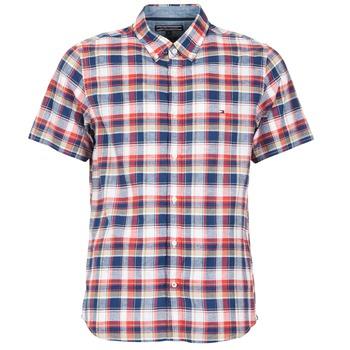 tekstylia Męskie Koszule z krótkim rękawem Tommy Hilfiger FRENCH CHK Marine / Czerwony