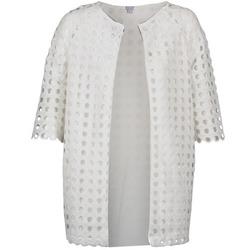 tekstylia Damskie Płaszcze Brigitte Bardot BB44197 Biały