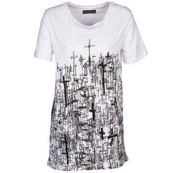 tekstylia Damskie T-shirty z krótkim rękawem Religion B123CND13 Biały