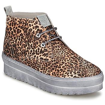 Buty Damskie Trampki wysokie Ylati BAIA F Leopard