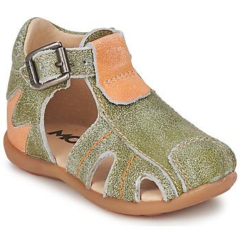 Buty Chłopiec Sandały Mod'8 ALUCINE Zielony / Pomarańczowy